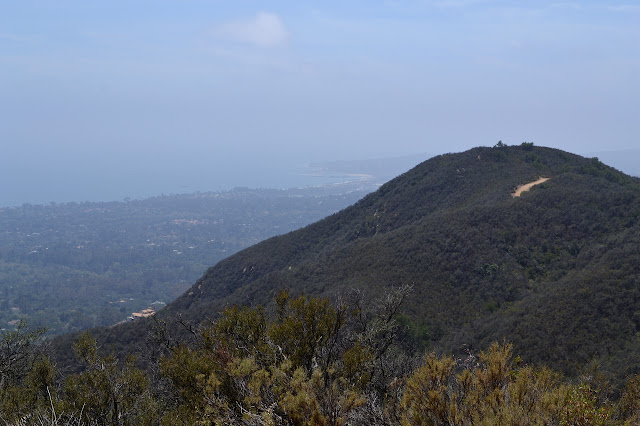 catway in the hills and Santa Barbara Bay below