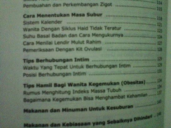 daftar isi buku tips hamil program kehamilan dr rosdiana ramli