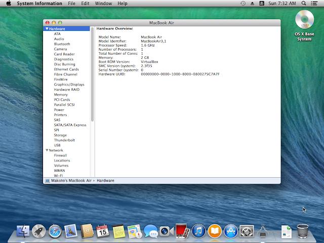 Mavericks on VirtualBox