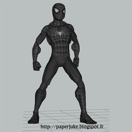 Black Suit SpiderMan Paper Model