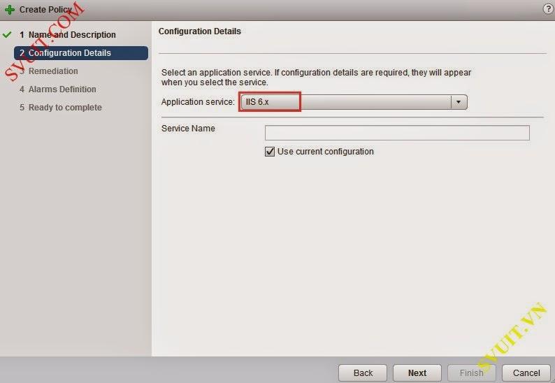Configure policy vSphere app Ha (7)