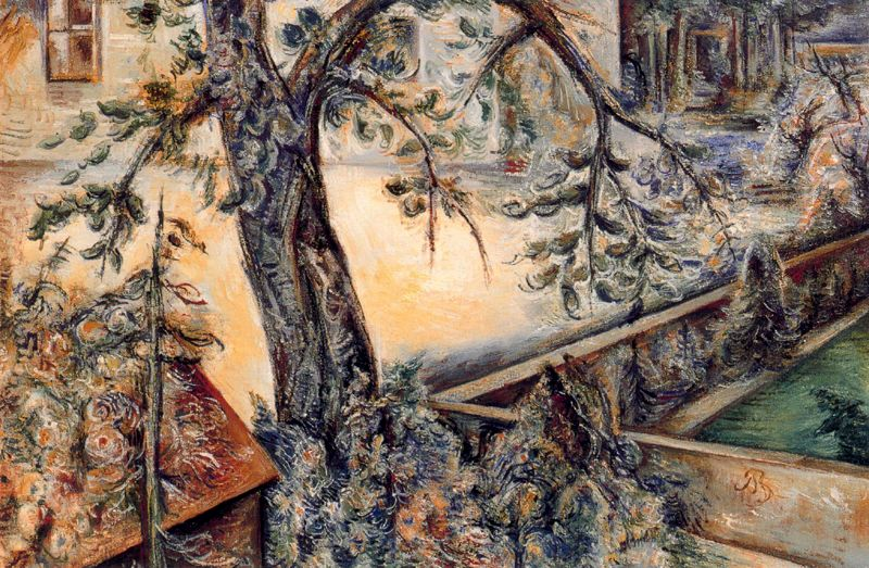 Albert Bloch - Garden Glimpse