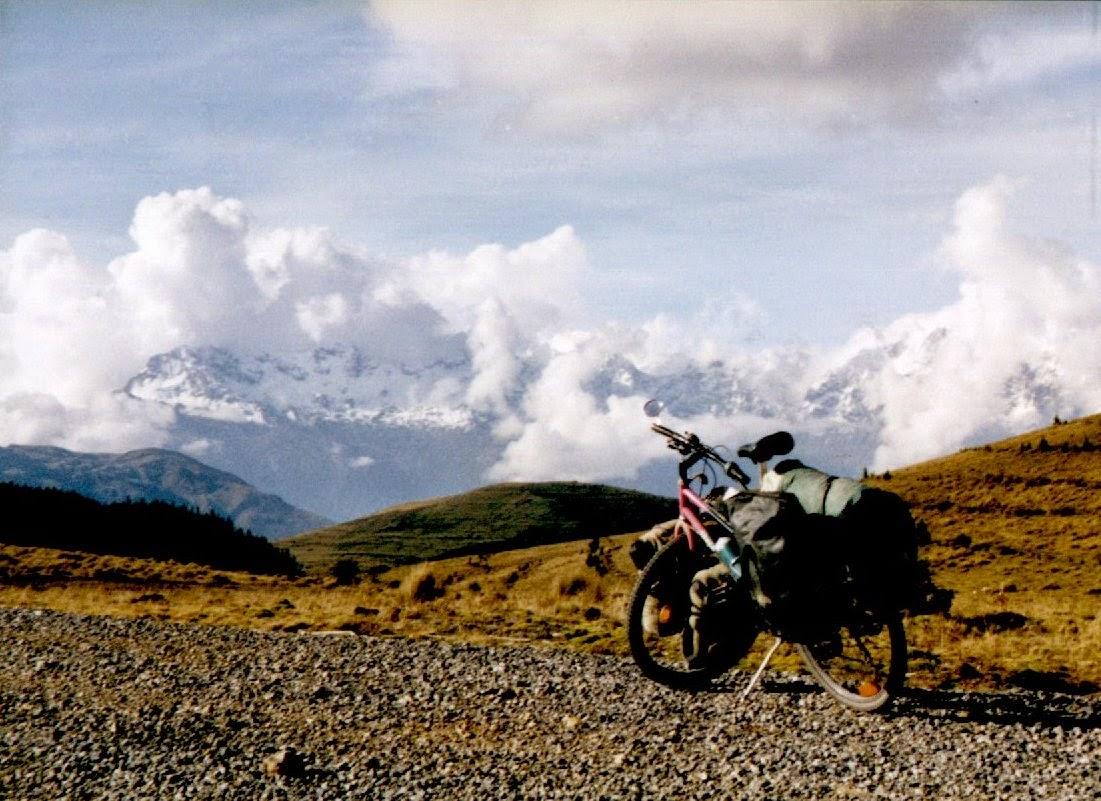 Blick auf das Massiv des Nevado Salcantay (6271m)