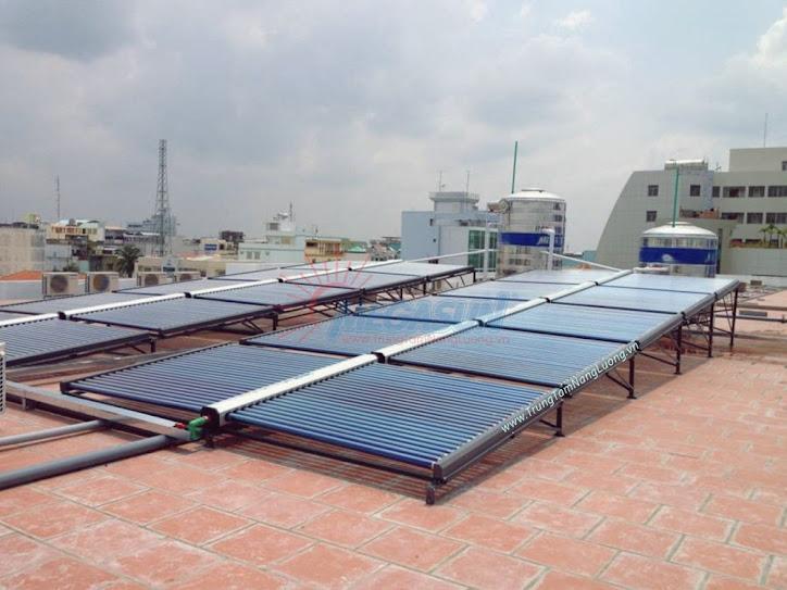 Công trình máy nước nóng năng lượng mặt trời Megasun tại bệnh viện Tiền Giang