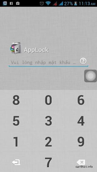 Màn hình nhập mật khẩu mỗi khi bạn mở ứng dụng bị khóa, có thể sử dụng giao diện màn hình khác đẹp hơn