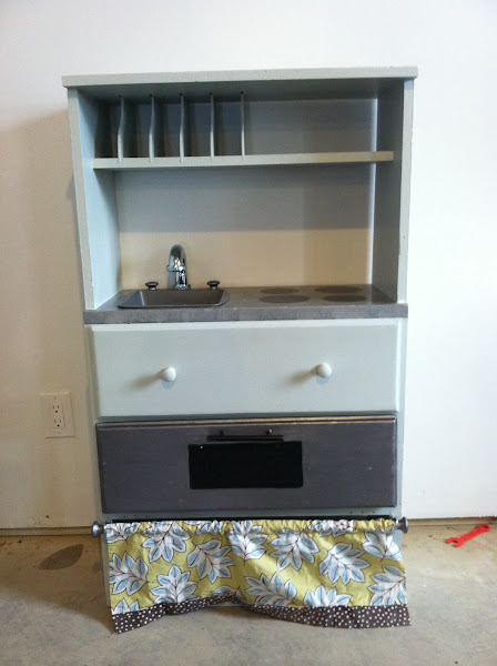 Dresser to kids play kitchen DIY