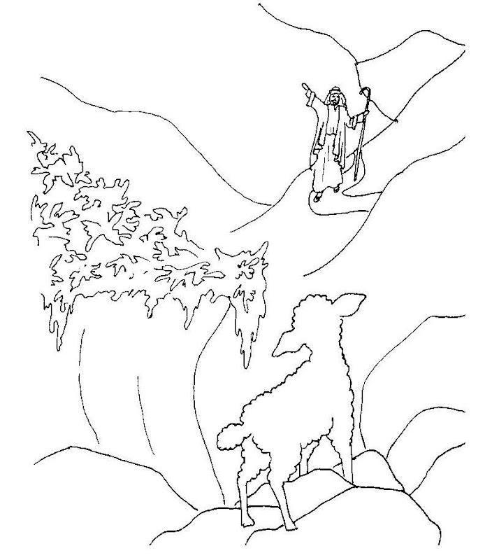Parábola de la Oveja perdida para colorear