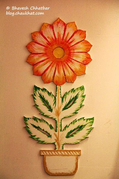 Embossed painting of a flower
