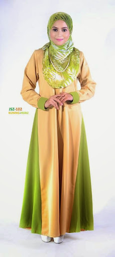 Jubah Nursing Friendly Breast Feed Menyusu Lavenzi Cotton Online Murah Kuning Hijau