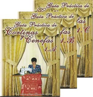 Manuales cortinas Cursos patrones paso a paso Revistas