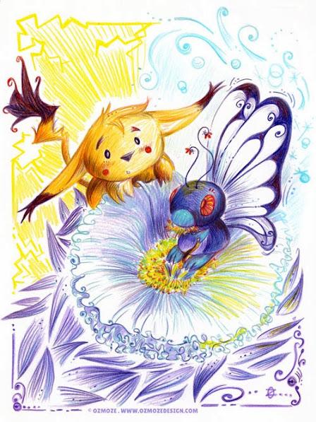 Pokemon (pikachu et papilusion)