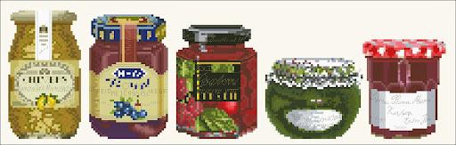 Jam jarscross stitch pattern