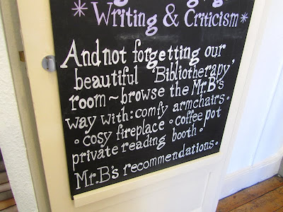 Bibliotherapy room sign