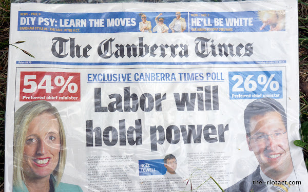 canberra times cover