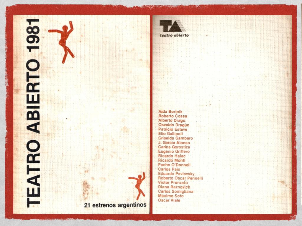 Teatro, resistencia y efervescencia cultural  en la Argentina de los años ochenta