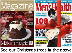 Our real Christmas trees featured in the following publications