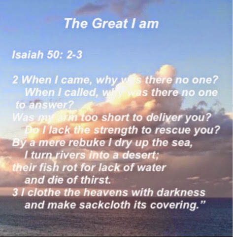 Image result for Isaiah 50: 2-3
