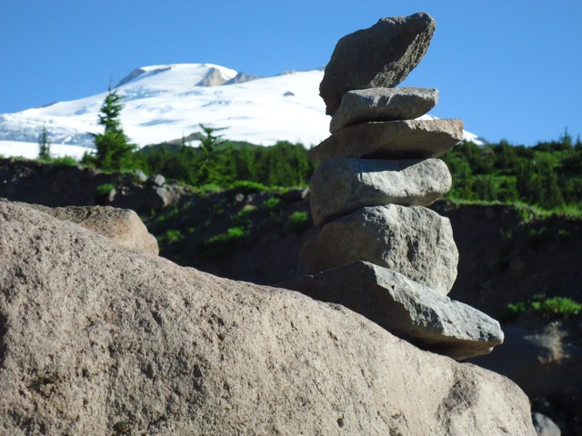 Cairn at Mt. Baker, Washington - David B. Williams