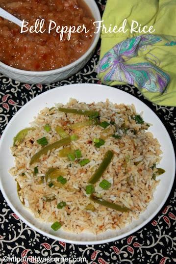 Capsicum Fried Rice Recipe