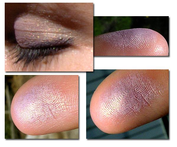 Guerlain Ombre Eclat 1 Couleur #161 L'instant Fleuri - свотчи на пальцах и на глазах