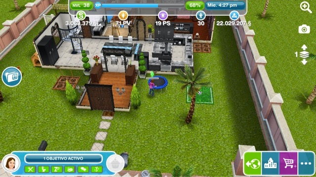 Los sims freeplay for Casa de diseno sims freeplay
