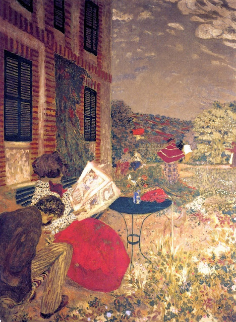Édouard Vuillard - Woman Reading on a Bench