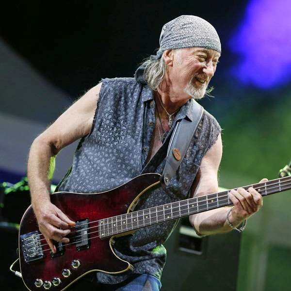 Roger Glover of 'Deep Purple' performs on stage of the Nice Jazz Festival on July 10, 2014 in Nice, southeastern France.