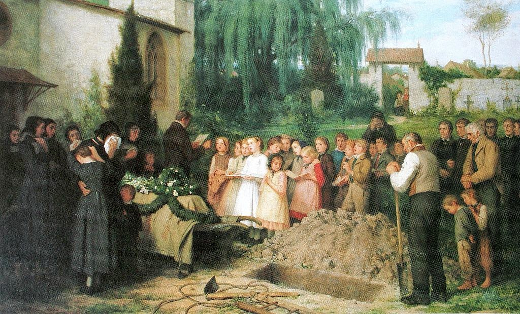Albert Anker - Kinderbegräbnis 1863