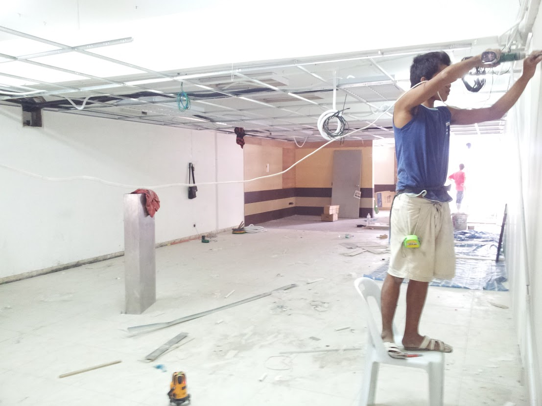 install suspended ceiling frame