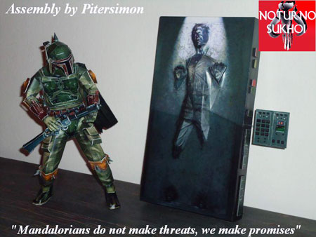 Star Wars Papercraft Boba Fett Han Solo in Carbonite