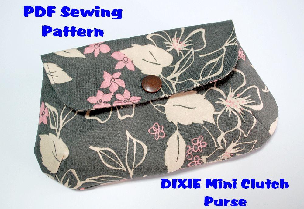 barangshop: New! DIXIE Mini Clutch Purse PDF Sewing Pattern Tutorial!