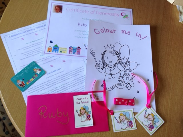 CHILDREN//KIDS Gift-Weaning-Dummies-GIRLS-Pink DUMMY FAIRY Kit with Certificate