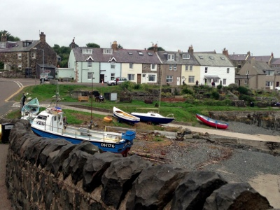 Fishing boats in Craster harbour, Northumberland