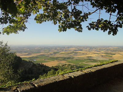 Montalcino, view towards Crete Senesi