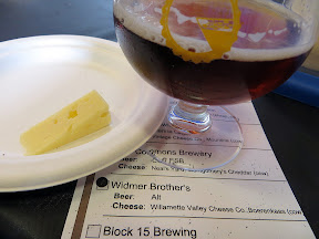 Portland Beer and Cheese Festival, beer and cheese pairing, The Commons Berwery, Steve's Cheese, Widmer Brothers Alt, paired with Willamette Valley Cheese Company, Boerenkaas, raw cow, Oregon