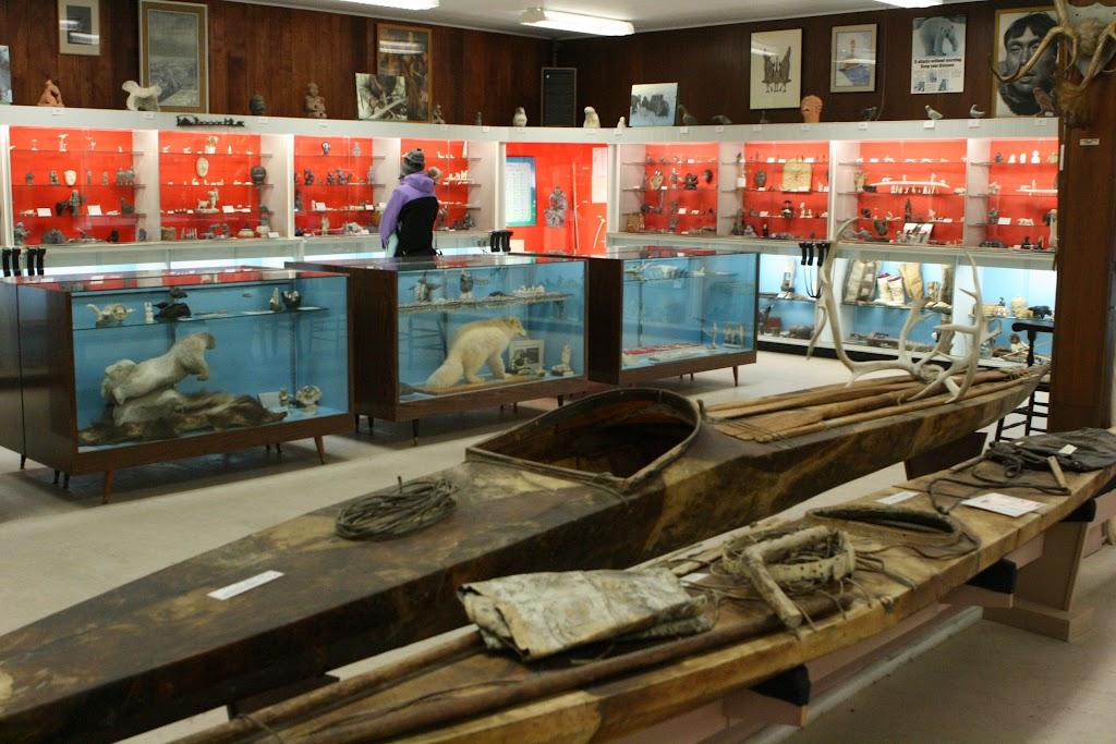 Blick durch das Eskimo Museum