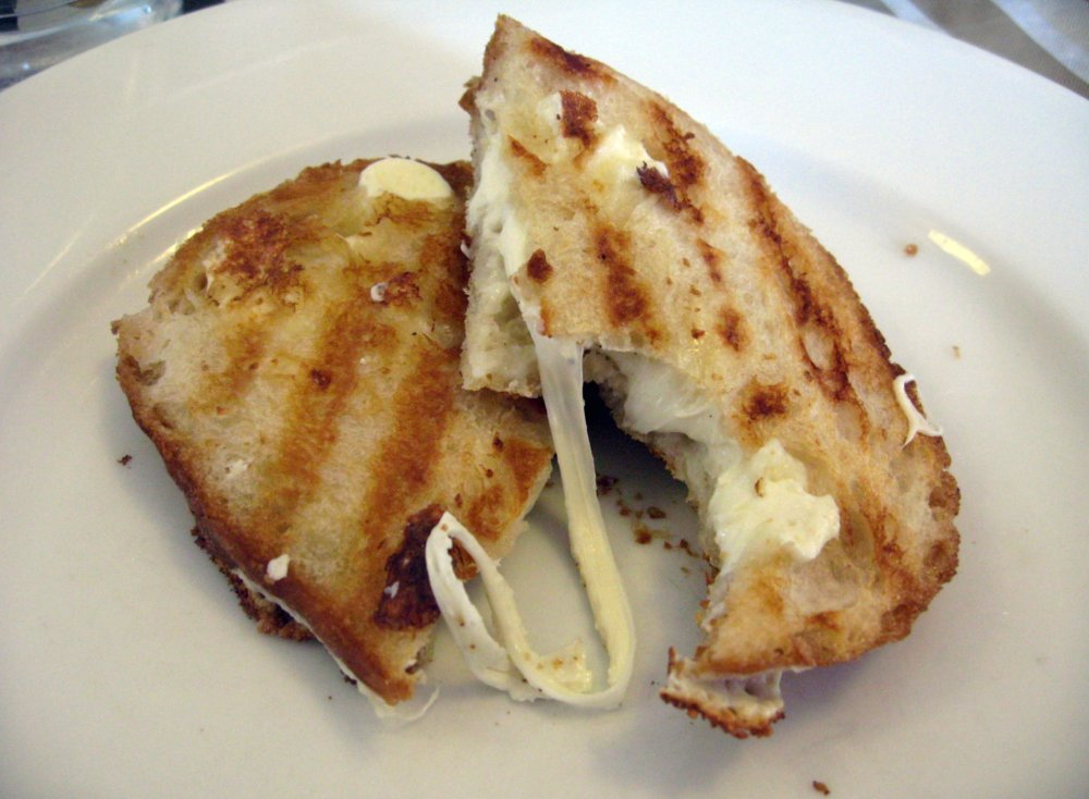Grilled Cheese - Italian Style - featuring whole milk mozzarella and extra virgin olive oil