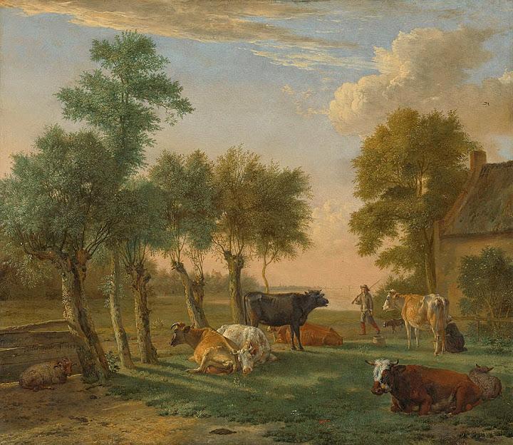 Paulus Potter - Koeien in de wei bij een boerderij Rijksmuseum