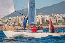 J/24 one-design sailboats- Athens, Greece