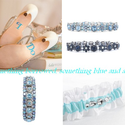 light blue wedding collage