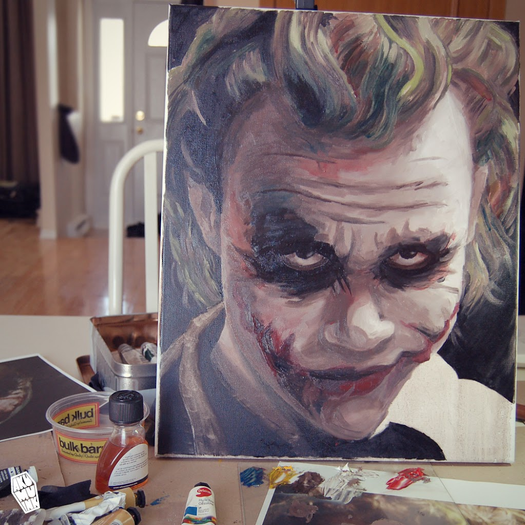 akumuink, joker face, joker, joker smile, nightmare, young artist, buy artist art, joker art, joker painting, comicbook art, artist alley, joker artist alley, joker comiccon, buy joker art, buy comicbook art, affordable art, affordable custom art, dark knight art, batman art