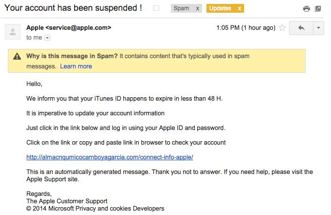 Apple ID 釣魚信