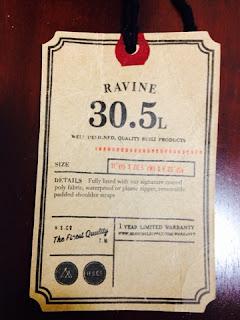 HERSCHEL SUPPLY RAVINE DUFFLE Navy/Red tag