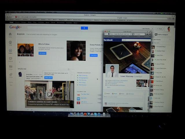 facebook #whitespace google plus