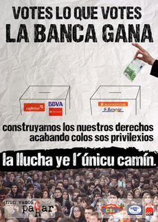 Votes lo que votes, la banca gana