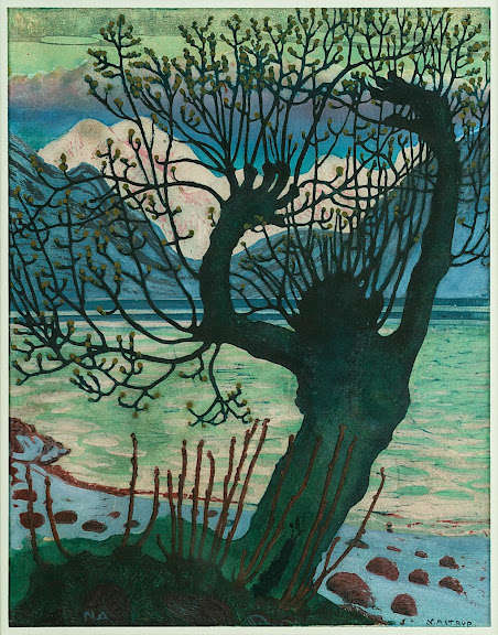 Nikolai Astrup - Spring Night and Willow Goblin