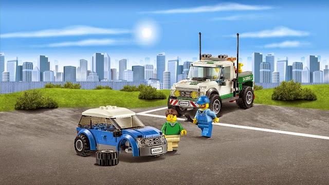 Các chi tiết sắc sảo của đồ chơi Lego City 60081 Xe bán tải cứu hộ Pickup Tow Truck