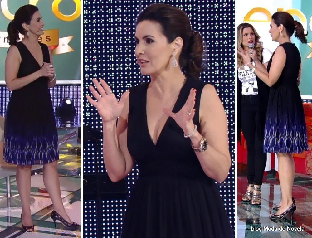 moda do programa Encontro - look da Fátima Bernardes no dia 7 de julho
