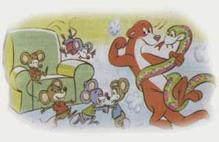 La serpiente la comadrja y los ratones