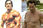 Muscled celebrities before and after